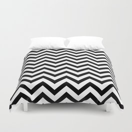 Simple Chevron Pattern - Black & White - Mix & Match with Simplicity Duvet Cover
