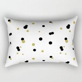 Gold and black dots pattern Rectangular Pillow