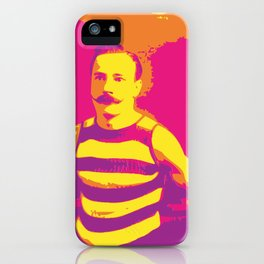 Frenchman With a Handlebar Mustache iPhone Case