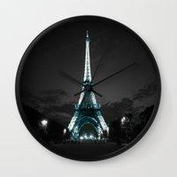 paris Wall Clocks featuring parIS by 2sweet4words Designs
