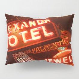 Neon Signs At Grandma's Saloon Pillow Sham