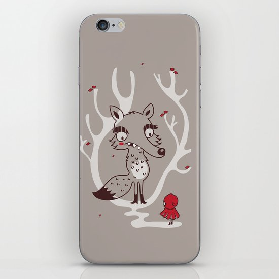 Hello big wolf iPhone & iPod Skin