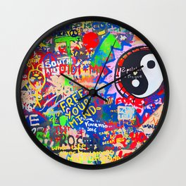 In the street No5, Messages Wall Clock