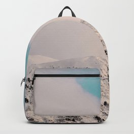 Black, White & Turquoise Winter Backpack