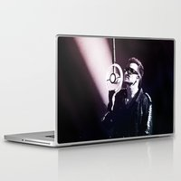 u2 Laptop & iPad Skins featuring U2 / Bono 4 by JR van Kampen