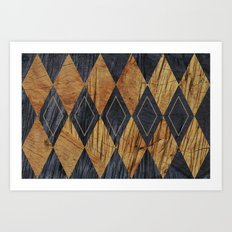 Wood cut abstraction Art Print