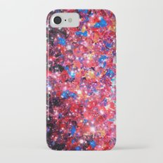 WRAPPED IN STARLIGHT Bold Colorful Abstract Acrylic Painting Galaxy Stars Pink Red Purple Ombre Sky Slim Case iPhone 7