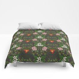Winter Flowers Comforters