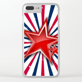 Stars 'n Stripes Clear iPhone Case