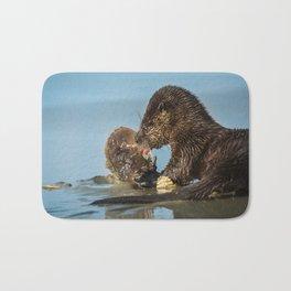 River Otter Meets Crab Bath Mat