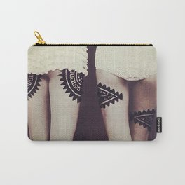 Aztec Inspired Vintage 50's Print Carry-All Pouch