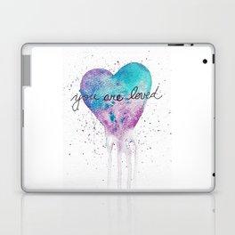 Watercolor Love Heart Laptop & iPad Skin
