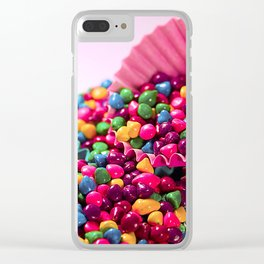 Candy Wallpaper Clear iPhone Case