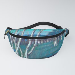 12,000pixel-500dpi - Tom Thomson - Silver Birches - Digital Remastered Edition Fanny Pack