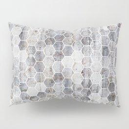 Hexagons - Concrete Pillow Sham