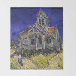 The Church at Auvers by Vincent van Gogh Throw Blanket