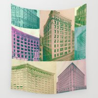 buildings Wall Tapestries featuring Buildings by Sarah Brust
