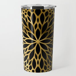 Hollywood Classically Ornate Art Deco Pattern Travel Mug