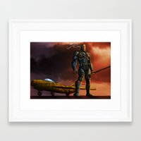 deathstroke Framed Art Prints featuring Deathstroke by Dushan Silva