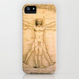 Vitruvian Man by Leonardo da Vinci iPhone Case