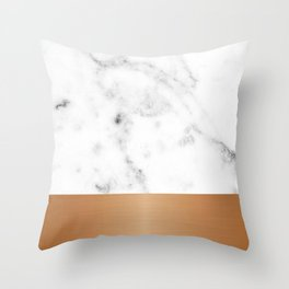 Copper & marble Throw Pillow