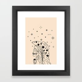 Love or Die Tryin' - Rhinestone Cowgirl Black & Cream Framed Art Print