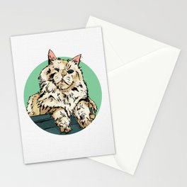 Zombie the cat Stationery Cards