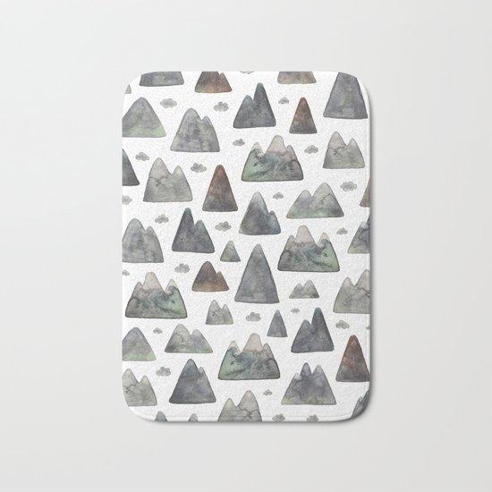 Little Mountain Range Bath Mat