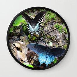 Butterflies on a Mountain Trail Wall Clock