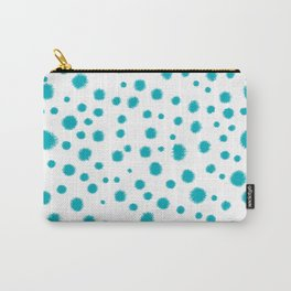 Dots turquoise modern minimal dorm college office minimalist decor Carry-All Pouch