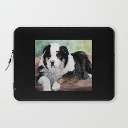 Australian Shepherd at Rest Laptop Sleeve