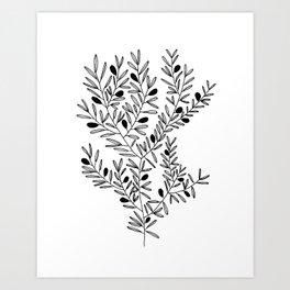 Olive Branch Print by Emma Freeman Designs Art Print
