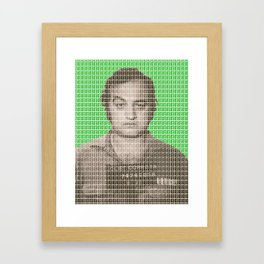 Jake Blues Mug Shot - Green Framed Art Print
