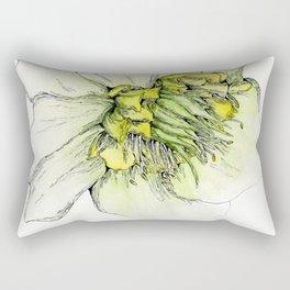 Watercolor Helleborus Rectangular Pillow