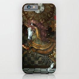 Steampunk,mystical steampunk unicorn iPhone Case
