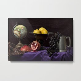Flemish Fruit Metal Print