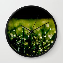 Dew Laden Grass 3 Wall Clock