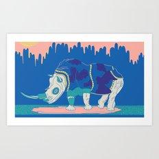 Rino in the Room Art Print