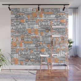 Paris toile cantaloupe Wall Mural