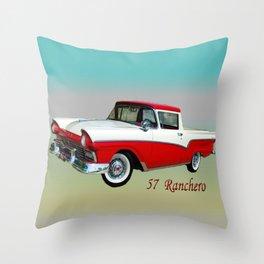 57 Ranchero Throw Pillow