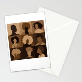 FOR BROWN GIRLS COLLECTION COLLAGE Stationery Cards