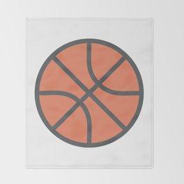 Basketball Icon Throw Blanket