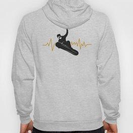 Snowboarder, Snowboarding - with an EKG Heartbeat Hoody