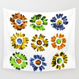 Flower Print Wall Tapestry