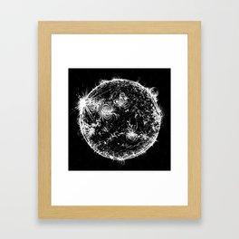 Large Sun Print, solar art by Little Lark Framed Art Print