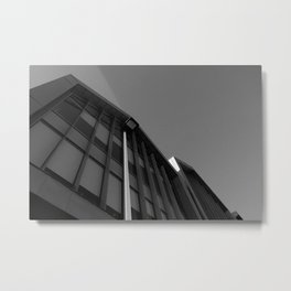 black and white building abstract Metal Print
