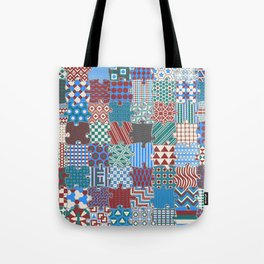 Pattern Patchwork Puzzle Tote Bag
