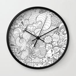 Tangled Intricate Doodle Wall Clock