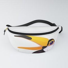 Exotic toucan. Vector graphic character Fanny Pack
