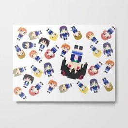 Pixel Nico Metal Print